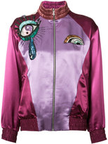 Marc Jacobs embroidered bomber jacket - women - Silk/Rayon - S
