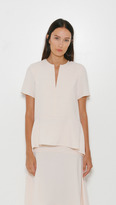 Alexander Wang Short Sleeve Draped Top