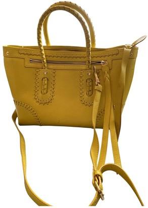 Alexander McQueen Yellow Leather Handbags