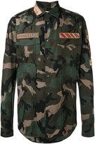 Valentino army print shirt