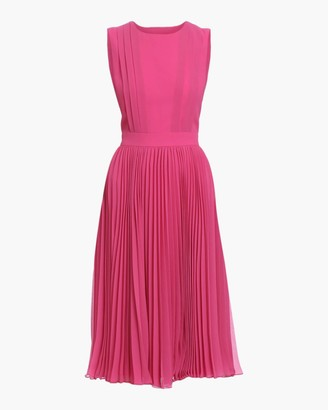 Badgley Mischka Pleated Dress