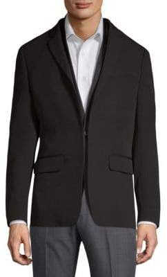 Givenchy Double-Layer Wool Blazer