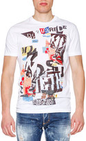 DSQUARED2 Logo-Patch Short-Sleeve Tee, White