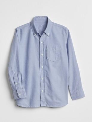 Gap Kids Uniform Oxford Long Sleeve Shirt