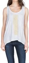 Lilla P Embroidered Slub Tank Top (For Women)