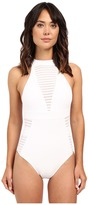 Jets Parallels High Neck One-Piece Swimsuit