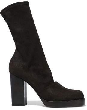 Rick Owens Nubuck Platform Sock Boots