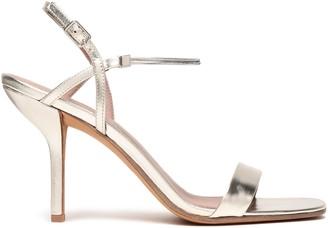 Diane von Furstenberg Frankie Chain-trimmed Metallic Leather Slingback Sandals