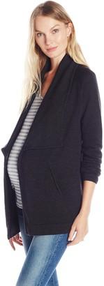 Tart Collections Women's Maternity Bain Draped Front Coat