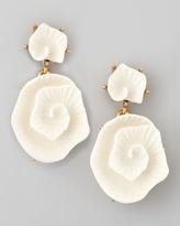Oscar de la Renta Resin Flower Earrings, Ivory