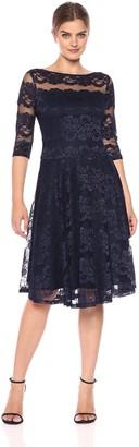 Sangria Women's 3/4 Sleeve Sequin Lace Party Dress