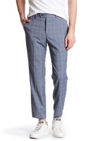 "Original Penguin Blue Plaid Flat Front Trouser - 30-34"" Inseam"