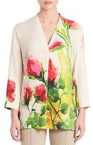 Escada Floral-Print Tunic Top