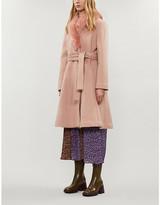 Reformation Somerset faux-fur trimmed wool coat