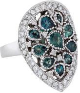 Ring 14K Alexandrite & Diamond