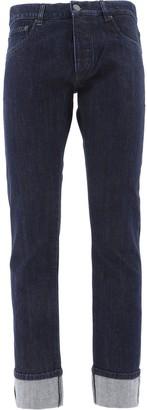Prada Straight-Leg Cuffed Jeans