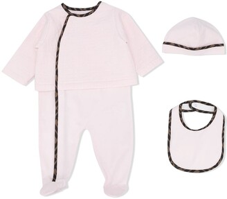 Fendi Kids FF-trim three-piece set