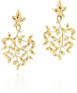 Tiffany & Co. Paloma Picasso Olive Leaf drop earrings in 18k gold, small