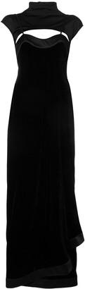 Unravel Project Layered Velvet Dress