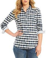 Tommy Bahama Fragmented Gingham Long Sleeve Shirt