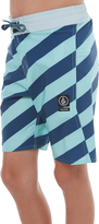 Volcom Boys Stripey Elastic Boardshort Green
