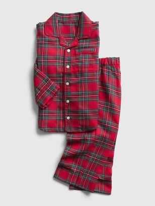 Gap babyGap Flannel Plaid PJ Set