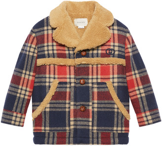 Gucci Children's check wool jacket