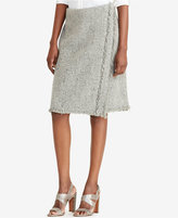 Lauren Ralph Lauren Fringe Faux-Wrap Skirt