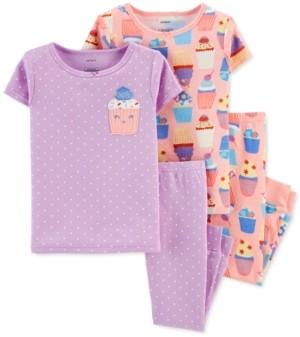 Carter's Baby Girls 4-Pc. Cupcake Cotton Pajamas Set