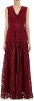 Sophia Kah Women's Lace Gown-BURGUNDY