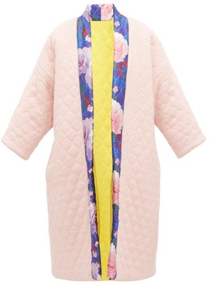 RIANNA + NINA Reversible Matelasse Wool And Silk Coat - Multi
