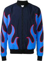 MSGM appliqué bomber jacket - men - Polyamide - 46