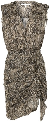 Veronica Beard Teagan python-print chiffon midi dress