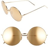 Linda Farrow Women's 58Mm 22 Karat Gold Trim Sunglasses - Yellow Gold/ Gold