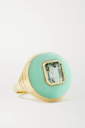 Retrouvaí Lollipop Small 14-karat Gold, Chrysoprase And Tourmaline Ring - 7 1/2