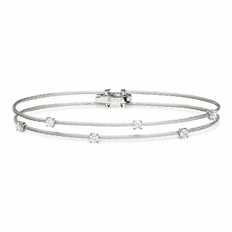 Paul Morelli 18k White Gold Six-Diamond Bracelet, 0.36 TCW