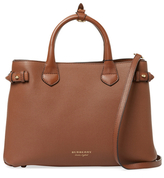 Burberry Banner Medium Leather & Check Tote