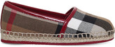 Burberry Peckfield canvas and leather espadrilles 3-4 years