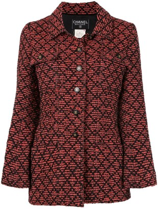 Chanel Pre Owned 1995s Long Sleeve Tweed Jacket