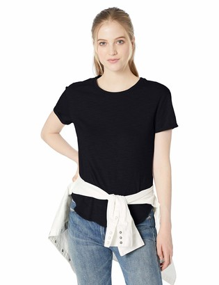 Daily Ritual Amazon Brand Women's Lived-in Cotton Roll-Sleeve Crewneck T-Shirt