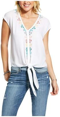 Ariat Bonnie Top (White) Women's Clothing