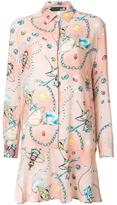 Love Moschino space motif shirt dress - women - Viscose/Wool - 44