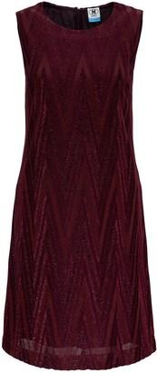 M Missoni Metallic Chevron Pattern Mini Dress