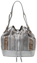 Giorgio Armani Metallic Leather & Snakeskin Bucket Bag