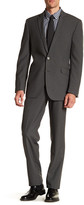 Kenneth Cole New York Solid Grey Two Button Notch Lapel Suit