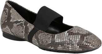 Donald J Pliner Dennis Python-Embossed Leather Flat