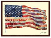 Alex Old Glory Collage Framed Wall Art by Zeng
