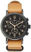 Timex Weekender Chronograph Watch Brown