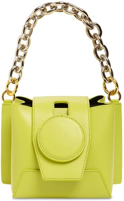 Yuzefi Daria Leather Bag W/ Chain Top Handle