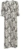 See by Chloe Long Dress 3/4s V Neck Multi